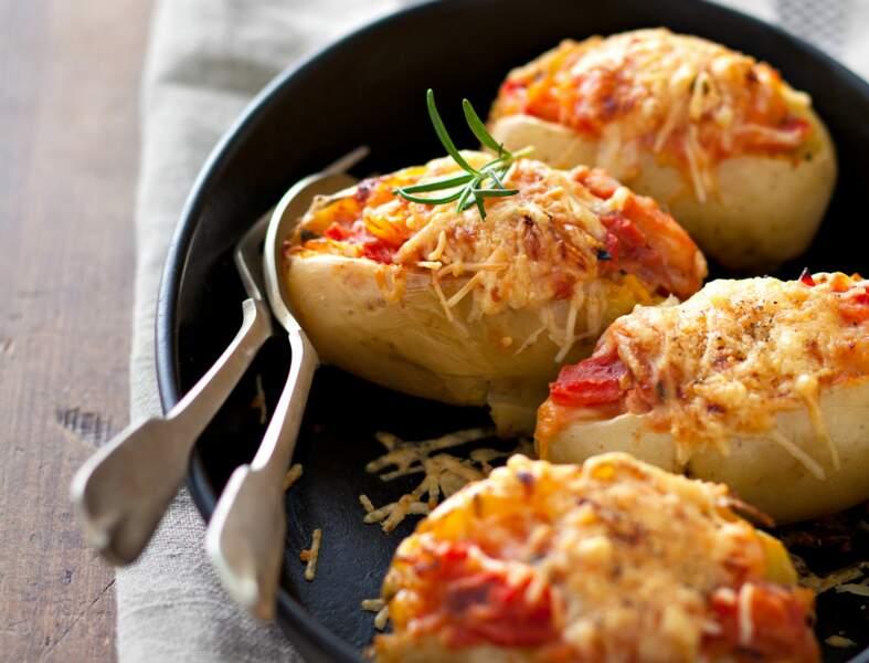 Pommes de terre farcies au jambon de Parme