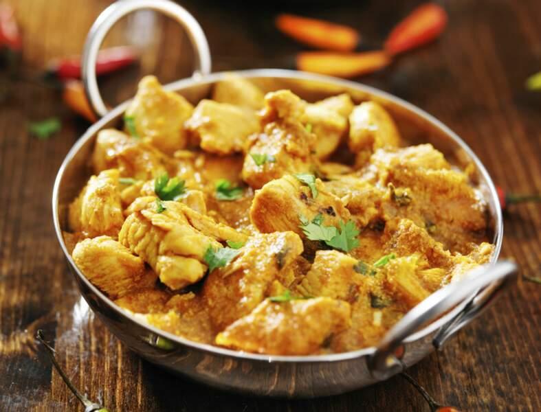 Poulet au curry saveur coco