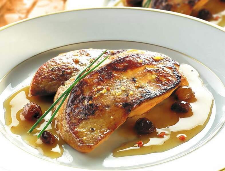 Foie gras poêlé aux raisins
