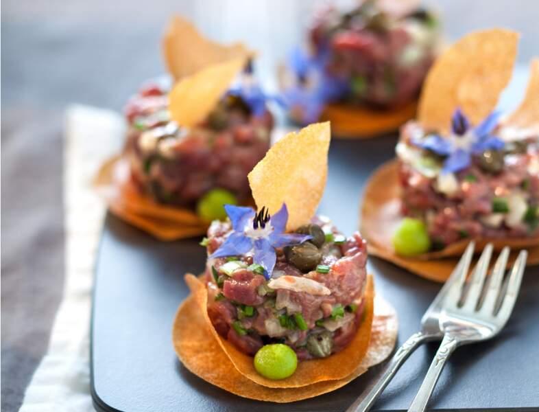 Tartare de bœuf aux huîtres