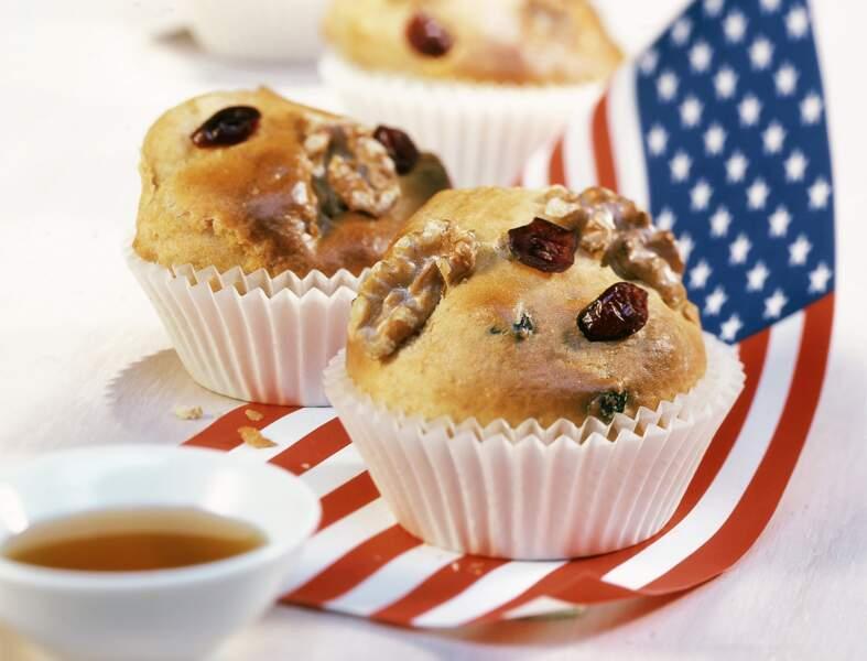 Muffins aux US cranberries et aux noix