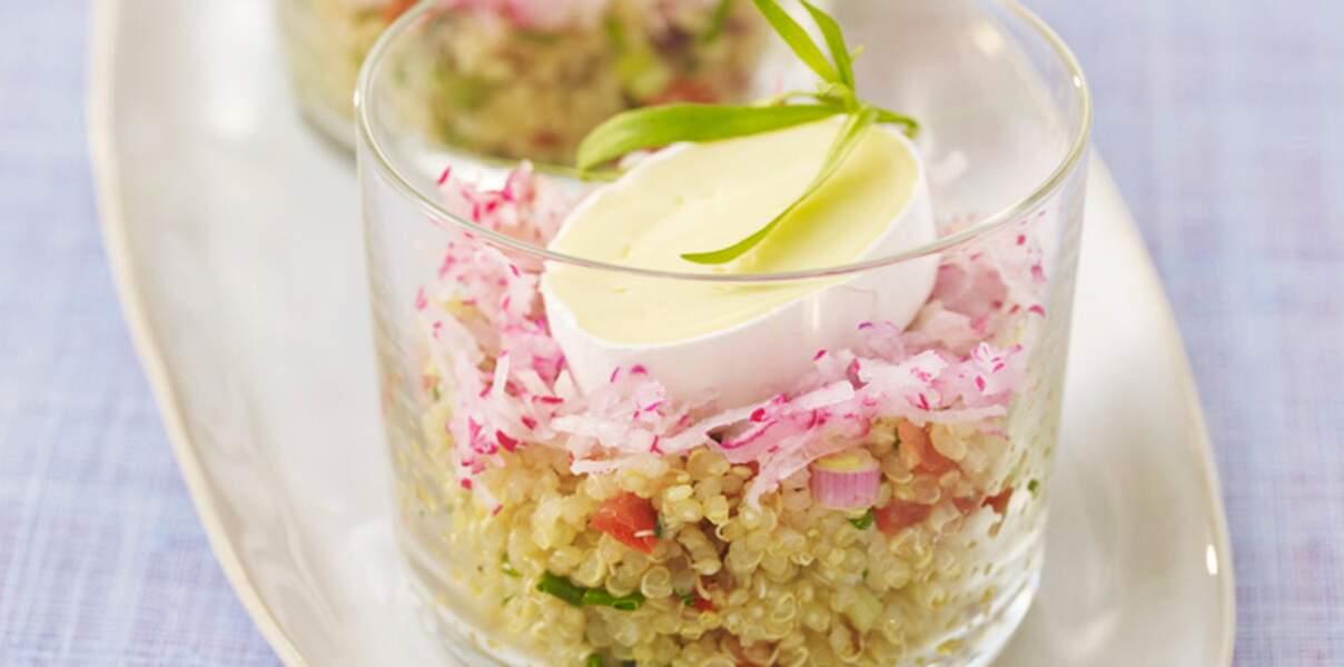 Salade de quinoa et fromage En Cas de Caprice
