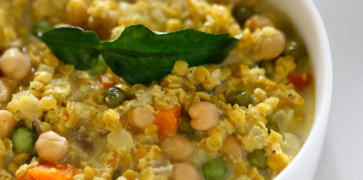 Curry de pois chiche lentilles corail au lait