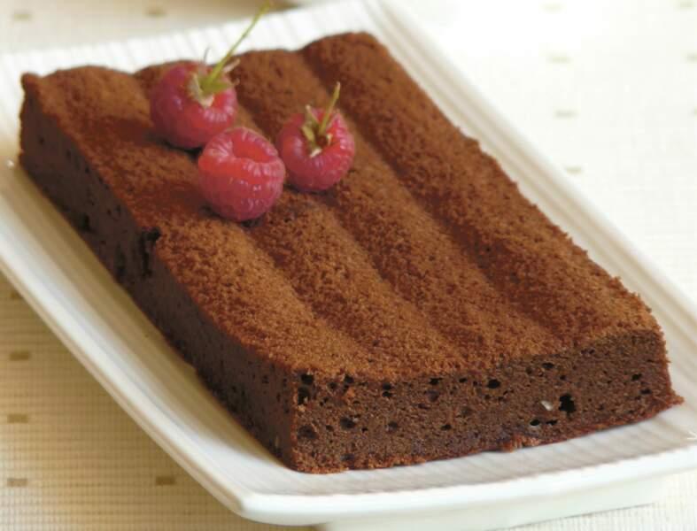 Gâteau au chocolat, beurre d'amandes et sirop de riz