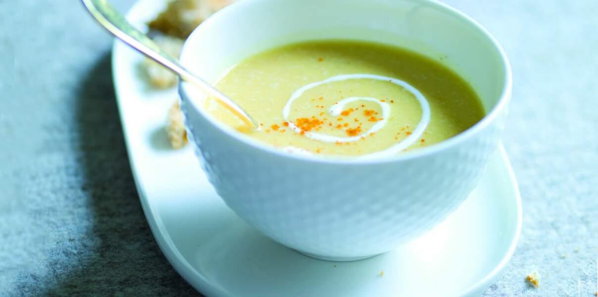 Crème de lentilles corail au lait de coco