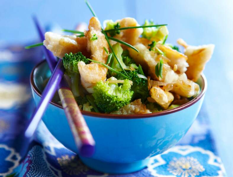 Sauté de limande aux brocolis à la chinoise