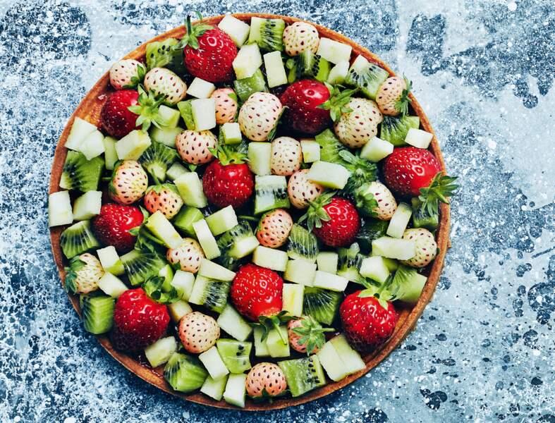 Tarte kiwi-fraise-pomme