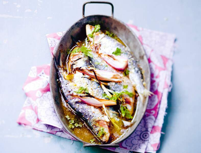 Sardines aux échalotes