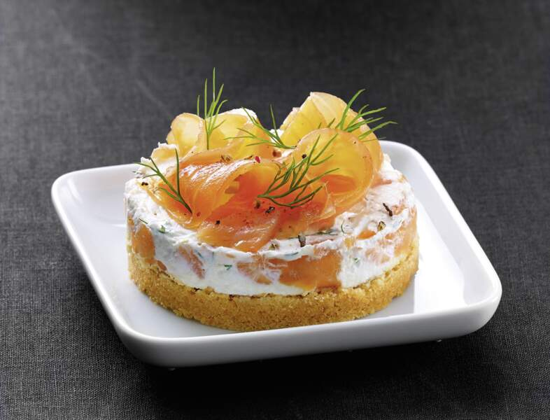 Cheesecake ricotta et saumon fumé