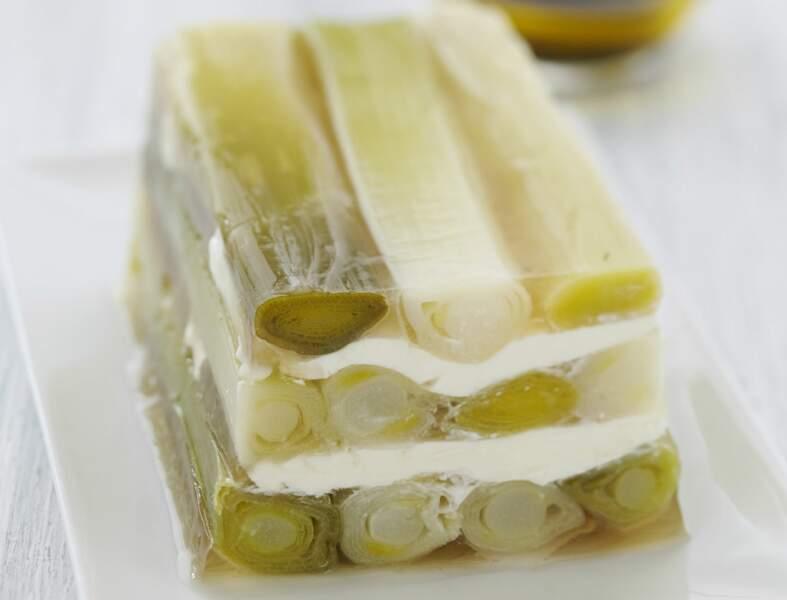 Terrine de poireaux au fromage frais