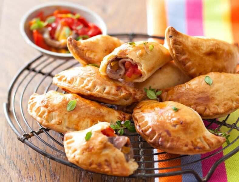 Mini-empanadas aux poivrons et anchois