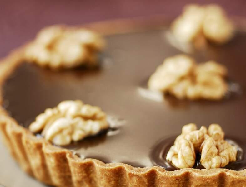 Tarte chocolat noix
