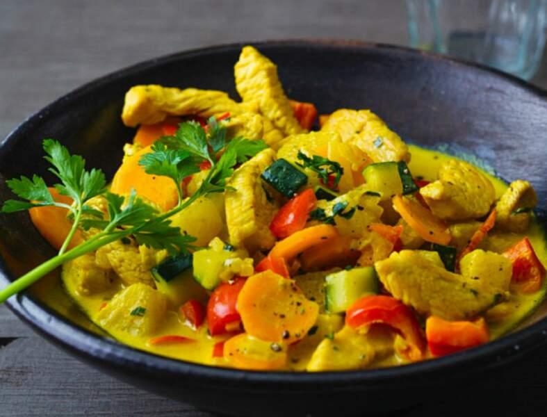 Fricassée de dinde au curry