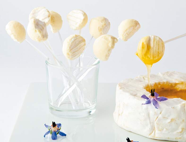 Bonbons de camembert au miel