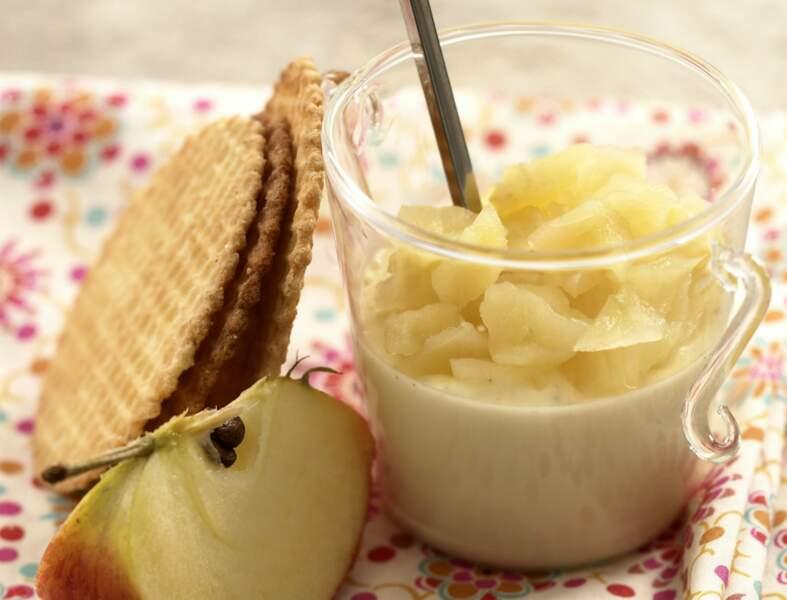 Panna cotta vanille et compote de pomme
