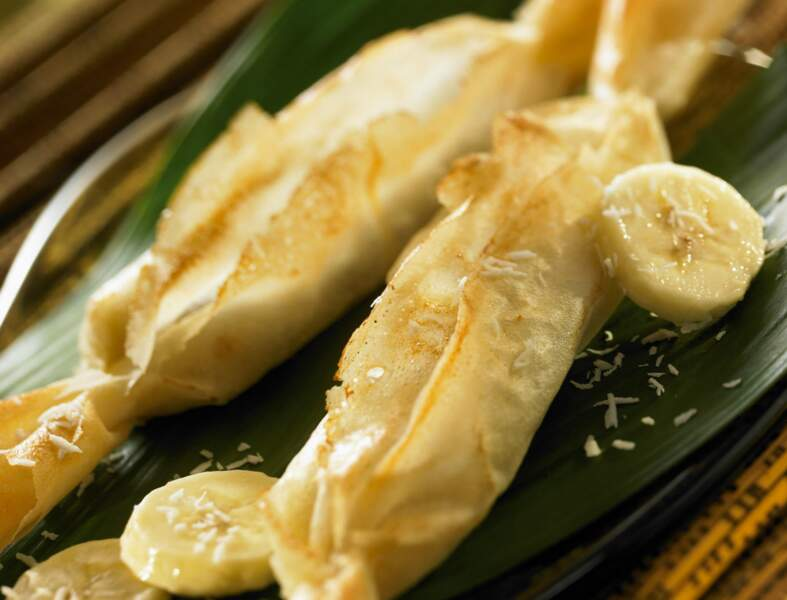 Papilotte croustillante de banane au coco