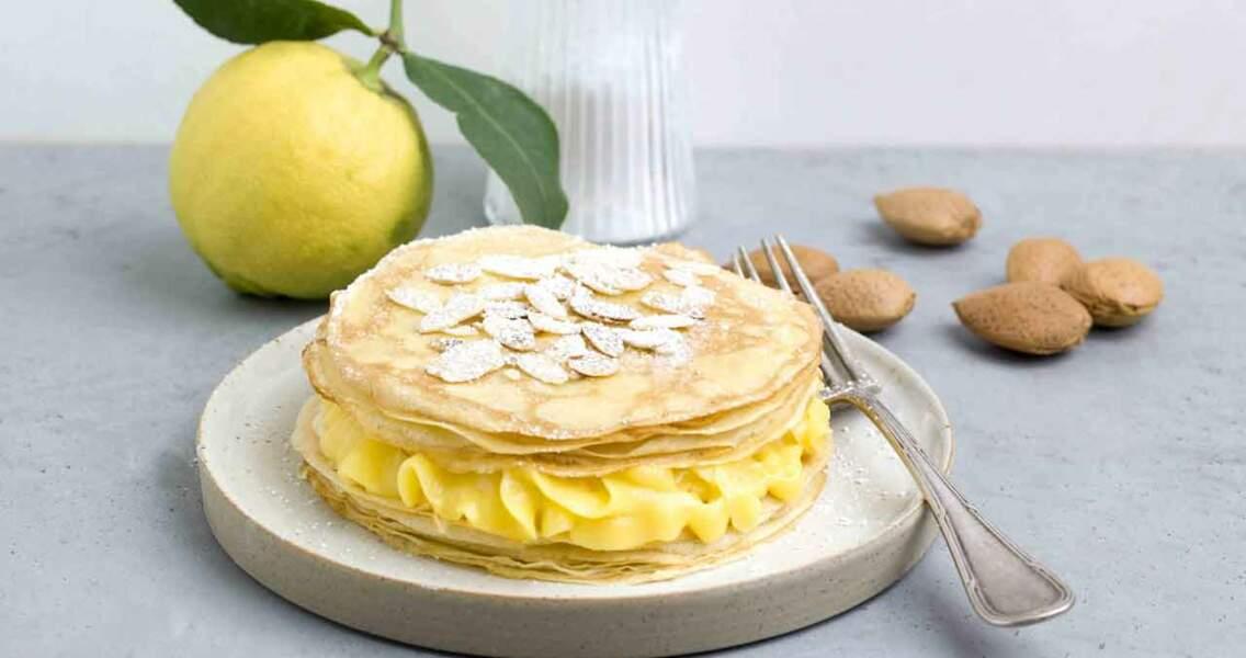 Feuilleté de crêpes au Lemond Curd