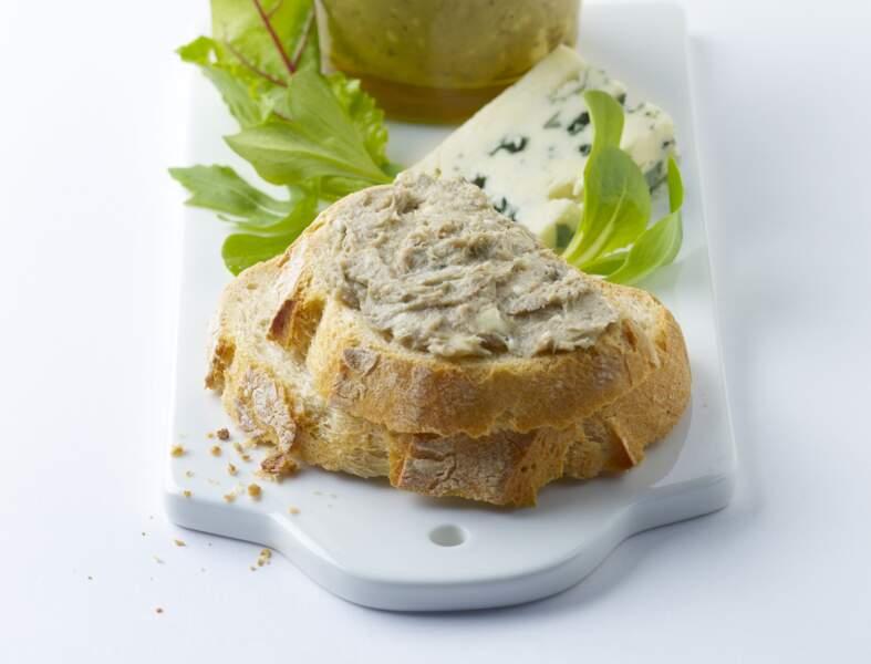 Tartinades sardines et Roquefort prêt en 10 min