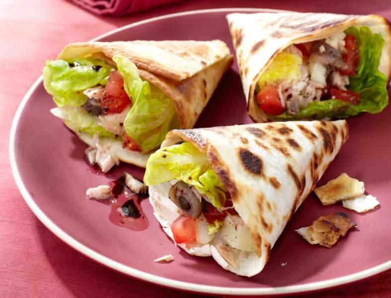 Tacos façon pain bagnat