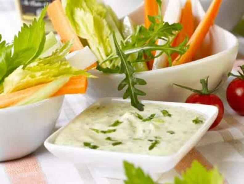 Sauce fromage blanc pour dip prêt en 5 minutes