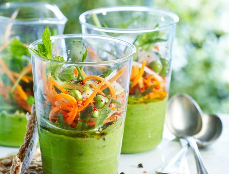 Jardinière en gazpacho tout vert