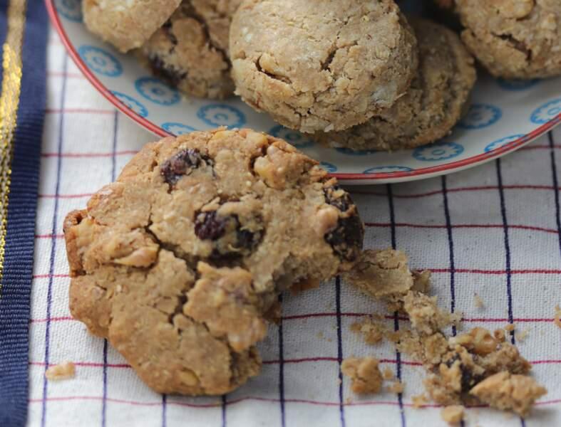 Cookies aux flocons de quinoa, raisins et noix bio