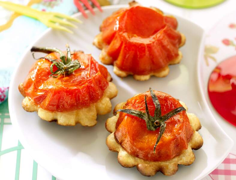 Mini-tatins de tomates