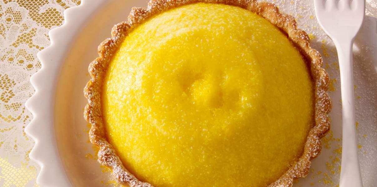Tarte au citron jaune vif
