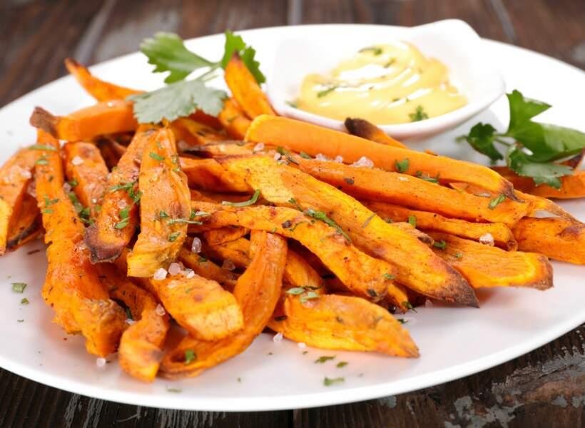 Frites de patates douces 167 kcal/200g