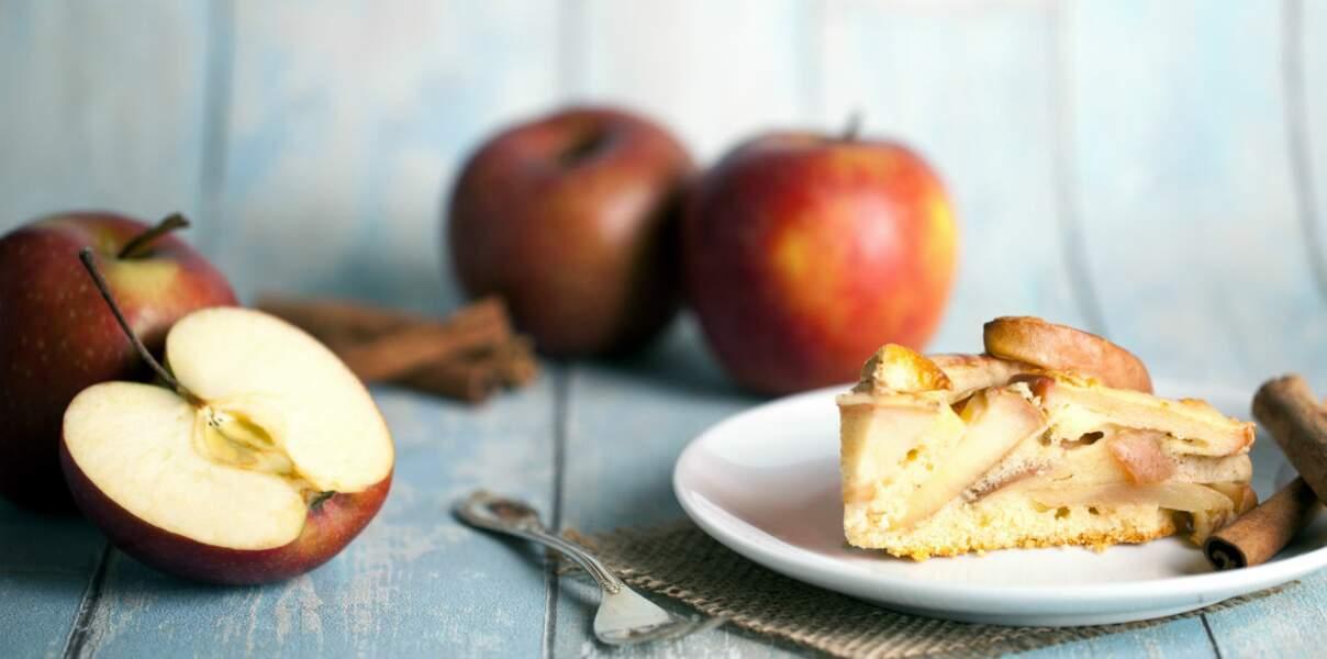 Tarte aux pommes croustillante à la crème de cannelle