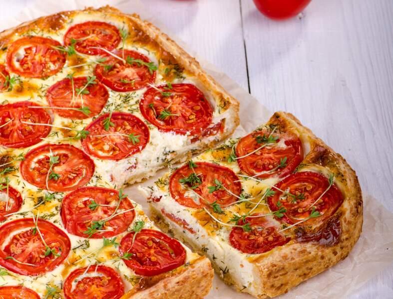 Tarte tomates-chèvre à l'origan