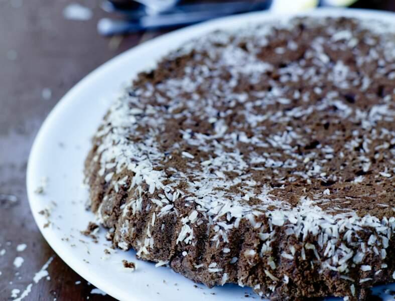 Gâteau chocolat-noix de coco