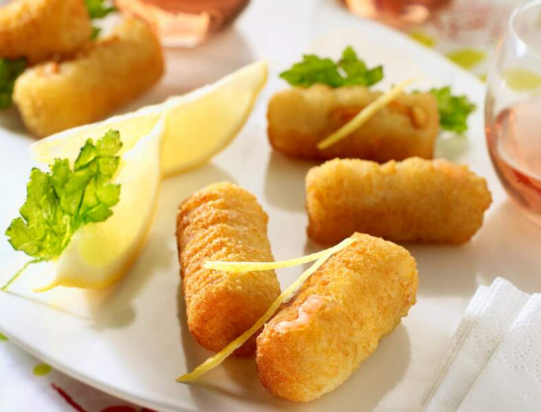 Croquettes de crevettes et persil frit