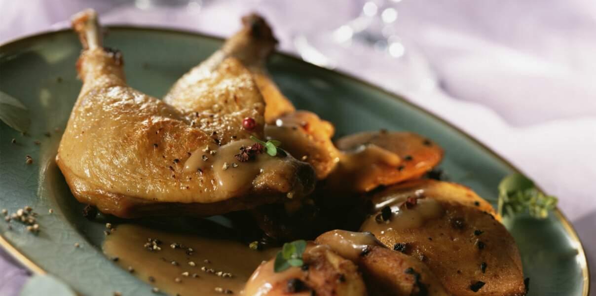 Chapon farci au foie gras