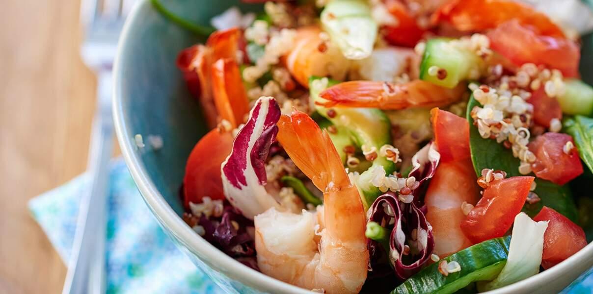Salade de crevettes complète