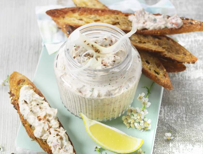 Rillettes de sardines et fenouil au St Môret® prêt en 15 min