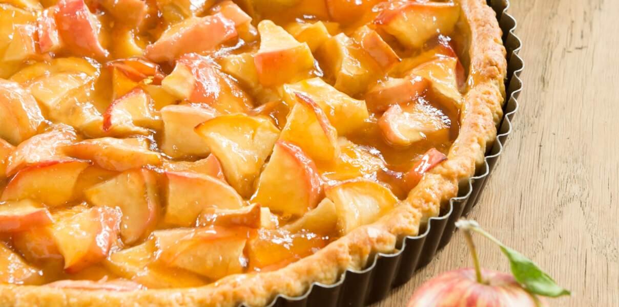 Tarte aux pommes à la gelée de coings