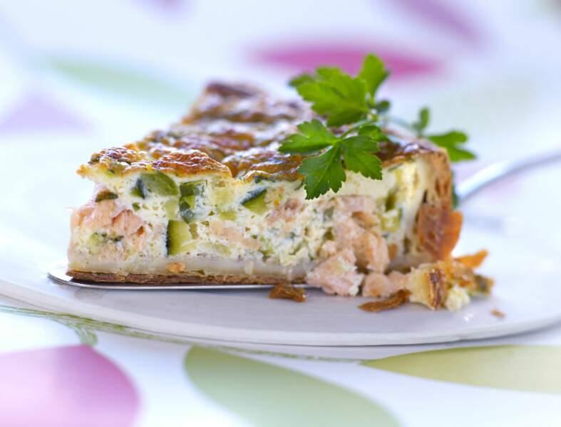 Quiche saumon courgette