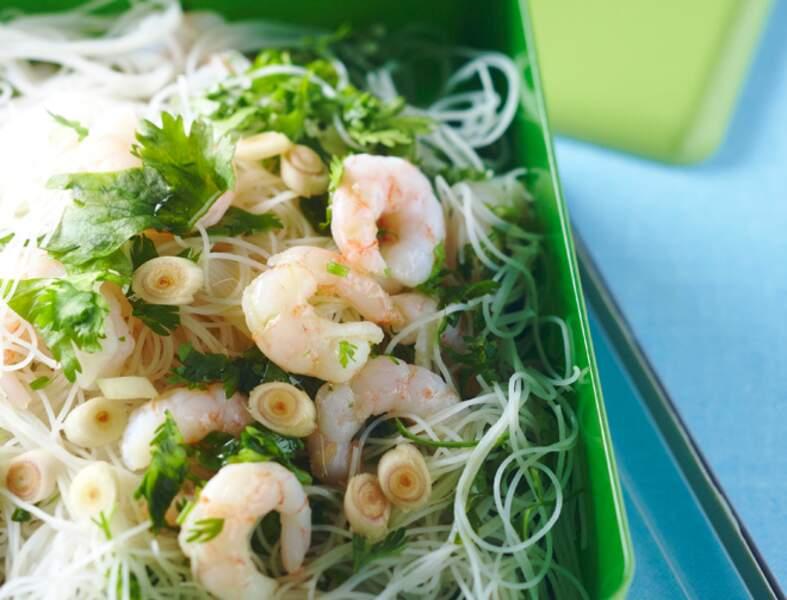 Vermicelles de riz aux crevettes et au lait de coco