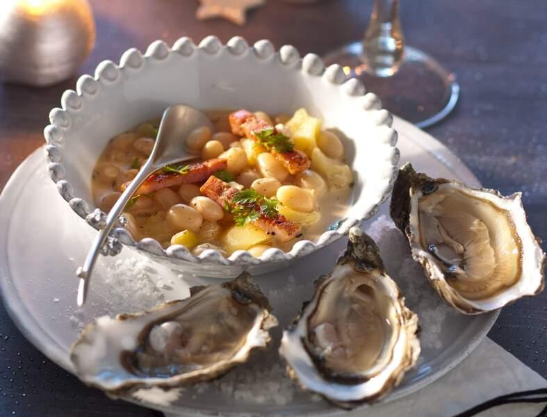 Bouillon d'huîtres au lard