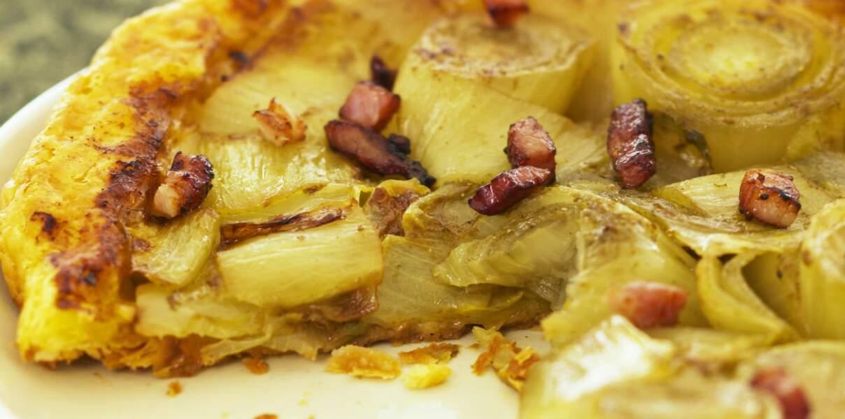 Tarte fondante aux endives et au curry