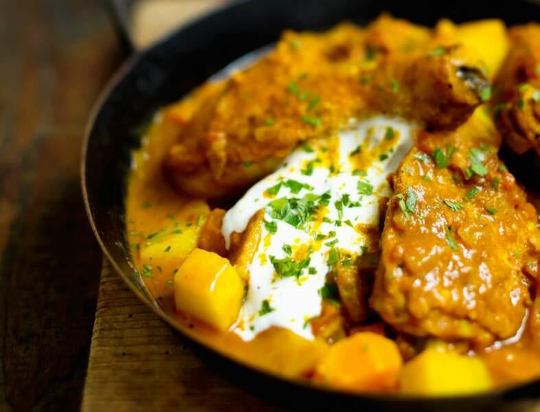 Poulet au yaourt à l'indienne
