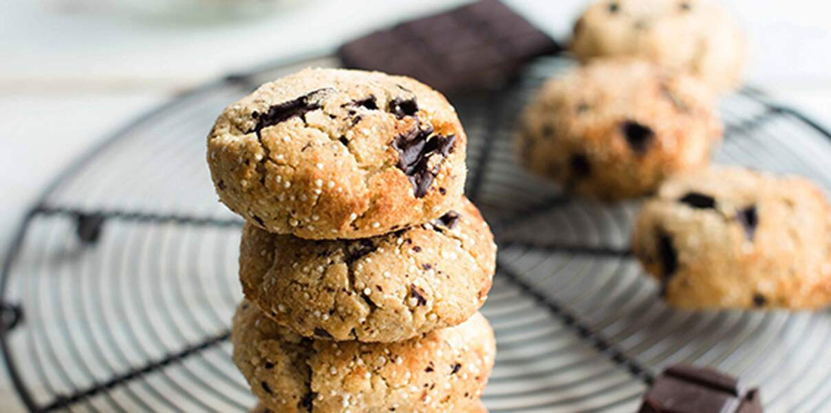 Cookies aux pépites de chocolat et quinoa