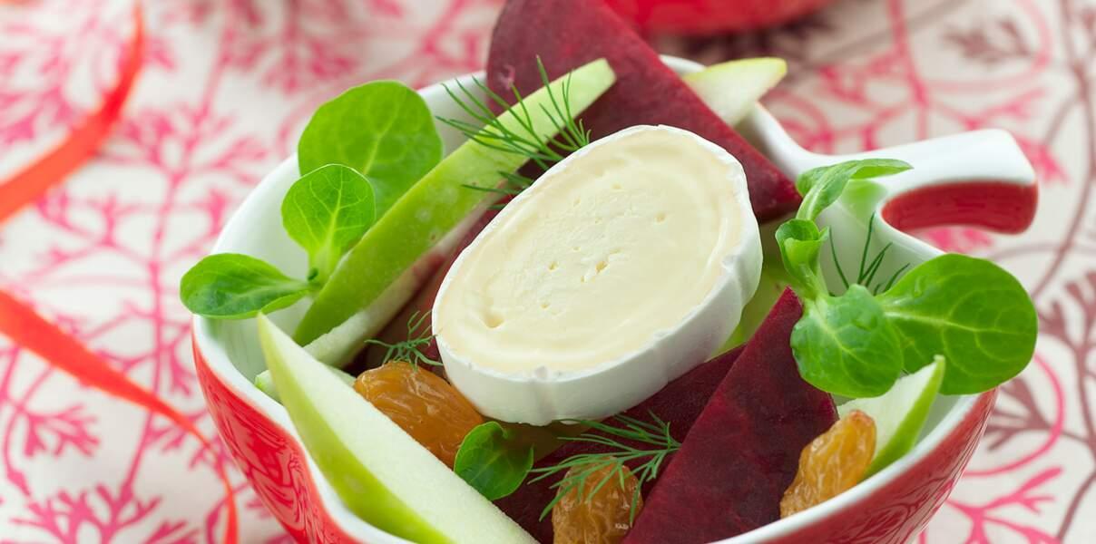 Salade fraicheur à la betterave et au fromage En Cas de Caprice