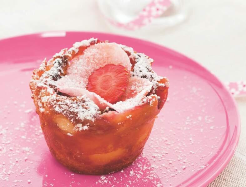 Clafoutis aux fraises et à la rose de Christophe Felder