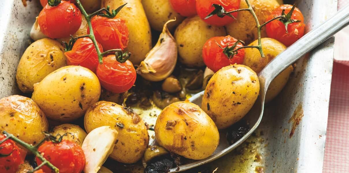 Légumes rôtis à l'ail et aux olives