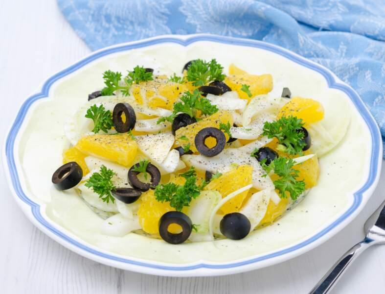 Salade fraîche à l'orange