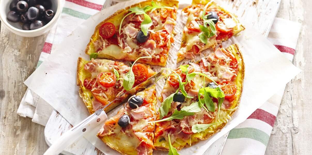 Omelette margherita façon pizza