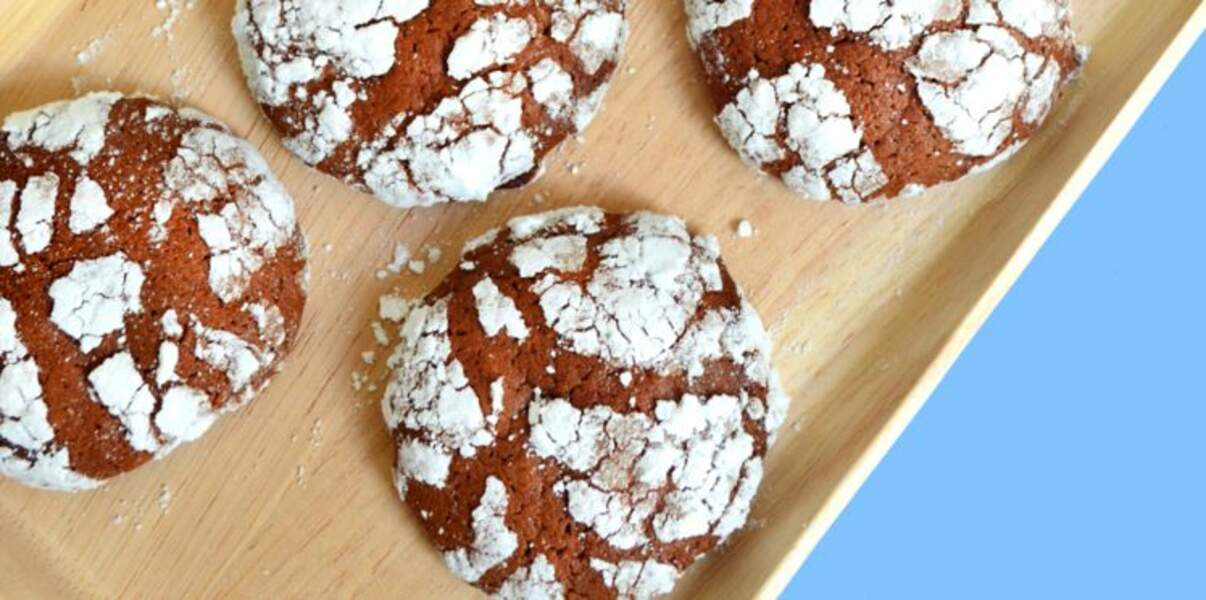 Biscuits craquelés chococafé