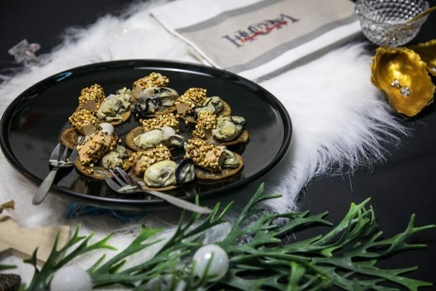 Huîtres et foie gras au Sarrasin
